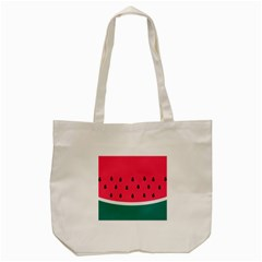Watermelon Red Green White Black Fruit Tote Bag (cream) by Mariart