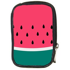 Watermelon Red Green White Black Fruit Compact Camera Cases by Mariart