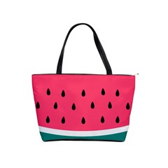 Watermelon Red Green White Black Fruit Shoulder Handbags by Mariart