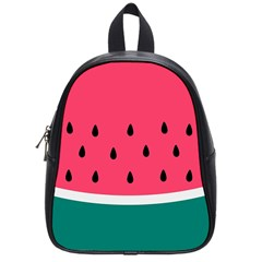 Watermelon Red Green White Black Fruit School Bags (small)  by Mariart