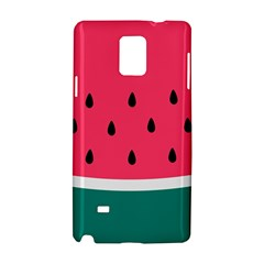 Watermelon Red Green White Black Fruit Samsung Galaxy Note 4 Hardshell Case by Mariart