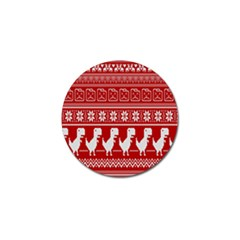 Red Dinosaur Star Wave Chevron Waves Line Fabric Animals Golf Ball Marker (10 Pack) by Mariart