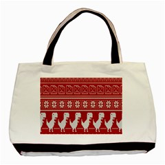 Red Dinosaur Star Wave Chevron Waves Line Fabric Animals Basic Tote Bag (two Sides) by Mariart