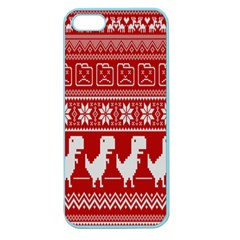 Red Dinosaur Star Wave Chevron Waves Line Fabric Animals Apple Seamless Iphone 5 Case (color) by Mariart
