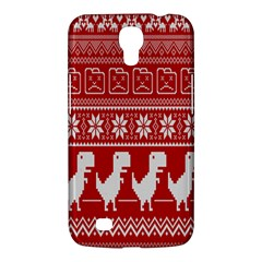 Red Dinosaur Star Wave Chevron Waves Line Fabric Animals Samsung Galaxy Mega 6 3  I9200 Hardshell Case by Mariart