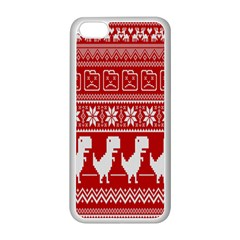 Red Dinosaur Star Wave Chevron Waves Line Fabric Animals Apple Iphone 5c Seamless Case (white) by Mariart