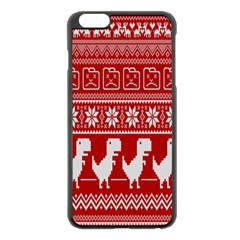 Red Dinosaur Star Wave Chevron Waves Line Fabric Animals Apple Iphone 6 Plus/6s Plus Black Enamel Case by Mariart