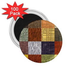 Blocky Filters Yellow Brown Purple Red Grey Color Rainbow 2 25  Magnets (100 Pack)  by Mariart