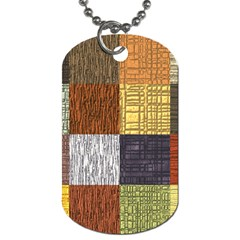 Blocky Filters Yellow Brown Purple Red Grey Color Rainbow Dog Tag (one Side) by Mariart