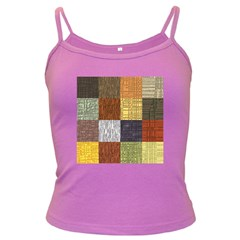 Blocky Filters Yellow Brown Purple Red Grey Color Rainbow Dark Spaghetti Tank by Mariart
