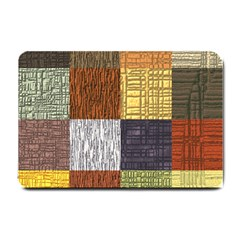 Blocky Filters Yellow Brown Purple Red Grey Color Rainbow Small Doormat  by Mariart