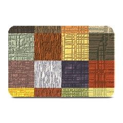 Blocky Filters Yellow Brown Purple Red Grey Color Rainbow Plate Mats by Mariart