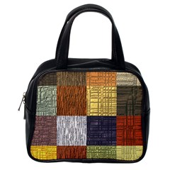 Blocky Filters Yellow Brown Purple Red Grey Color Rainbow Classic Handbags (one Side) by Mariart