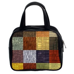 Blocky Filters Yellow Brown Purple Red Grey Color Rainbow Classic Handbags (2 Sides) by Mariart