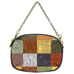 Blocky Filters Yellow Brown Purple Red Grey Color Rainbow Chain Purses (two Sides)  by Mariart