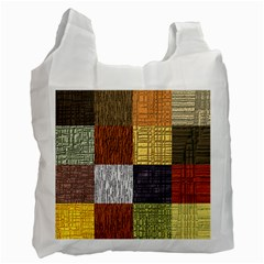 Blocky Filters Yellow Brown Purple Red Grey Color Rainbow Recycle Bag (one Side) by Mariart