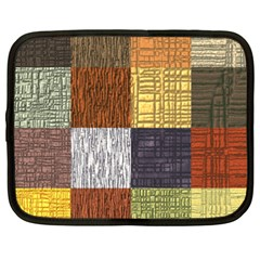 Blocky Filters Yellow Brown Purple Red Grey Color Rainbow Netbook Case (xxl)  by Mariart