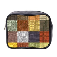 Blocky Filters Yellow Brown Purple Red Grey Color Rainbow Mini Toiletries Bag 2 Side by Mariart