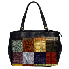 Blocky Filters Yellow Brown Purple Red Grey Color Rainbow Office Handbags by Mariart