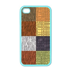 Blocky Filters Yellow Brown Purple Red Grey Color Rainbow Apple Iphone 4 Case (color)