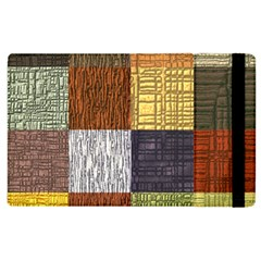 Blocky Filters Yellow Brown Purple Red Grey Color Rainbow Apple Ipad 3/4 Flip Case by Mariart