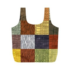 Blocky Filters Yellow Brown Purple Red Grey Color Rainbow Full Print Recycle Bags (m)  by Mariart