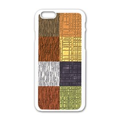 Blocky Filters Yellow Brown Purple Red Grey Color Rainbow Apple Iphone 6/6s White Enamel Case by Mariart