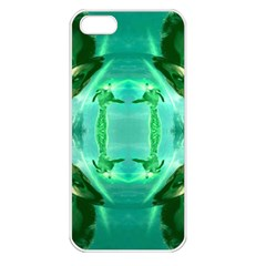 Green Lantern 3d Effect Apple Iphone 5 Seamless Case (white)