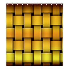 Rough Gold Weaving Pattern Shower Curtain 66  X 72  (large)  by Simbadda