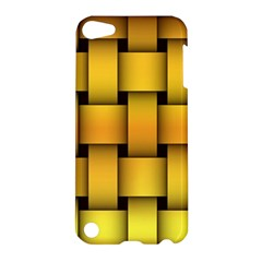 Rough Gold Weaving Pattern Apple Ipod Touch 5 Hardshell Case