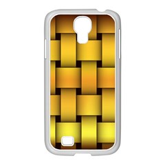 Rough Gold Weaving Pattern Samsung Galaxy S4 I9500/ I9505 Case (white)