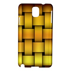 Rough Gold Weaving Pattern Samsung Galaxy Note 3 N9005 Hardshell Case by Simbadda