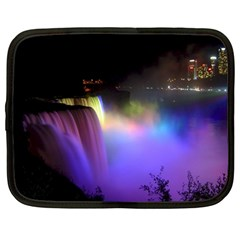 Niagara Falls Dancing Lights Colorful Lights Brighten Up The Night At Niagara Falls Netbook Case (large) by Simbadda