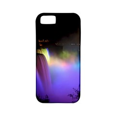 Niagara Falls Dancing Lights Colorful Lights Brighten Up The Night At Niagara Falls Apple Iphone 5 Classic Hardshell Case (pc+silicone) by Simbadda