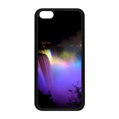 Niagara Falls Dancing Lights Colorful Lights Brighten Up The Night At Niagara Falls Apple Iphone 5c Seamless Case (black) by Simbadda