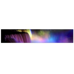 Niagara Falls Dancing Lights Colorful Lights Brighten Up The Night At Niagara Falls Flano Scarf (large) by Simbadda