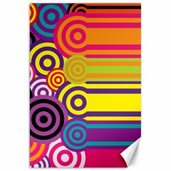 Retro Circles And Stripes Colorful 60s And 70s Style Circles And Stripes Background Canvas 20  X 30   by Simbadda