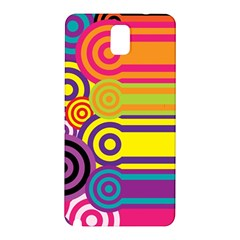 Retro Circles And Stripes Colorful 60s And 70s Style Circles And Stripes Background Samsung Galaxy Note 3 N9005 Hardshell Back Case