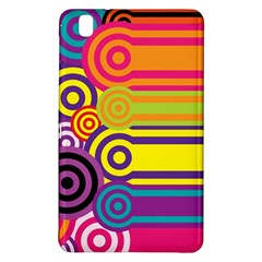 Retro Circles And Stripes Colorful 60s And 70s Style Circles And Stripes Background Samsung Galaxy Tab Pro 8 4 Hardshell Case