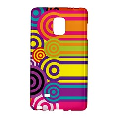 Retro Circles And Stripes Colorful 60s And 70s Style Circles And Stripes Background Galaxy Note Edge by Simbadda