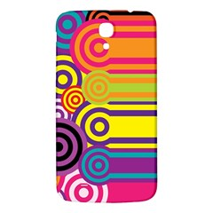 Retro Circles And Stripes Colorful 60s And 70s Style Circles And Stripes Background Samsung Galaxy Mega I9200 Hardshell Back Case