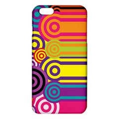Retro Circles And Stripes Colorful 60s And 70s Style Circles And Stripes Background Iphone 6 Plus/6s Plus Tpu Case by Simbadda