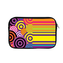 Retro Circles And Stripes Colorful 60s And 70s Style Circles And Stripes Background Apple Macbook Pro 13  Zipper Case by Simbadda