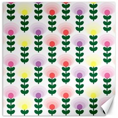 Floral Wallpaer Pattern Bright Bright Colorful Flowers Pattern Wallpaper Background Canvas 20  X 20