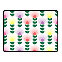 Floral Wallpaer Pattern Bright Bright Colorful Flowers Pattern Wallpaper Background Fleece Blanket (small) by Simbadda