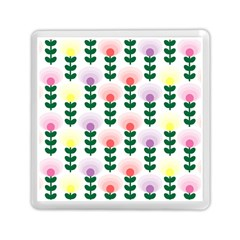 Floral Wallpaer Pattern Bright Bright Colorful Flowers Pattern Wallpaper Background Memory Card Reader (square)