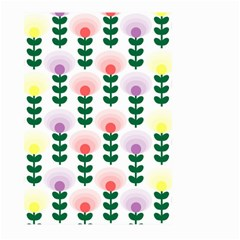 Floral Wallpaer Pattern Bright Bright Colorful Flowers Pattern Wallpaper Background Large Garden Flag (two Sides) by Simbadda
