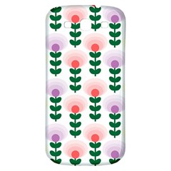 Floral Wallpaer Pattern Bright Bright Colorful Flowers Pattern Wallpaper Background Samsung Galaxy S3 S Iii Classic Hardshell Back Case