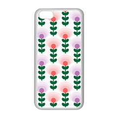 Floral Wallpaer Pattern Bright Bright Colorful Flowers Pattern Wallpaper Background Apple Iphone 5c Seamless Case (white) by Simbadda