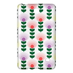 Floral Wallpaer Pattern Bright Bright Colorful Flowers Pattern Wallpaper Background Samsung Galaxy Tab 4 (7 ) Hardshell Case